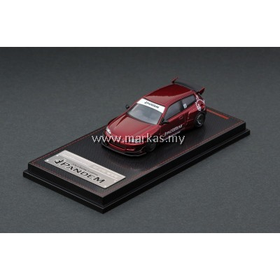 LOT IGNITION MODEL 1/64 PANDEM EG6 RED METALLIC EXCLUSIVE & TARMAC WORKS 1/43 (A/B/C/D)