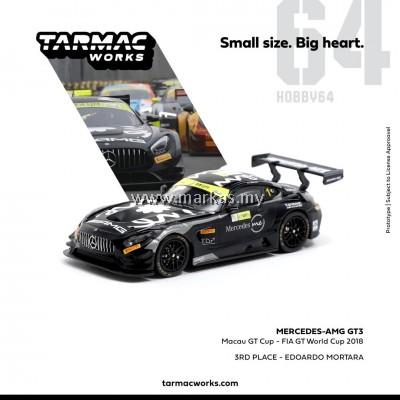 (PO) TARMAC WORKS 1/64 MERCEDES AMG GT3 MACAU GT CUP #01 3RD