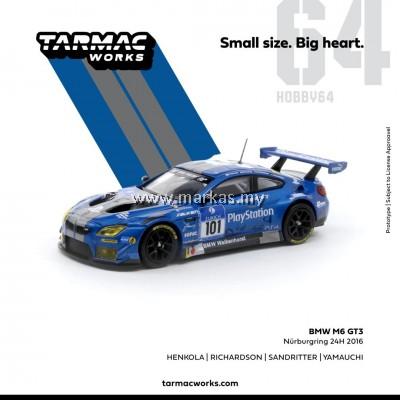 (PO) TARMAC WORKS 1/64 BMW M6 GT3 NURBURGRING 24H #101