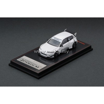 IGNITION MODEL 1/64 PANDEM CIVIC EG6 WHITE