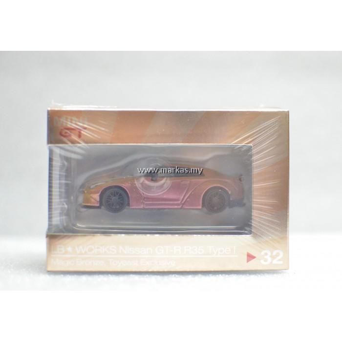 MINI GT 1/64 #32 LB★WORKS NISSAN GT-R R35 TYPE 1 MAGIC BRONZE TOYEAST ECLUSIVE