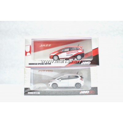 INNO MODELS INNO64 1/64 HONDA JAZZ INDONESIA SPECIAL EDITION + HONDA FIT 3 RS WHITE