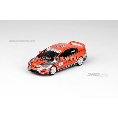 (PO) INNO MODELS INNO64 1/64 HONDA CIVIC TYPE-R FD2 #7 AUTOBACS MUGEN POWERCUP CIVIC ONE MAKE RACE 2012