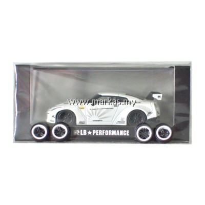 LB PERFORMANCE 1/64 LIBERTY WALK NISSAN GT-R R35 WHITE