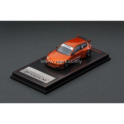 LOT IGNITION MODEL 1/64 PANDEM CIVIC EG6 ORANGE METALLIC & TARMAC WORKS 1/64 ( FK2 SELECTIION)