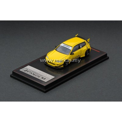 LOT IGNITION MODEL 1/64 PANDEM CIVIC EG6 YELLOW & TARMAC WORKS 1/64 ( EVO SELECTIION)