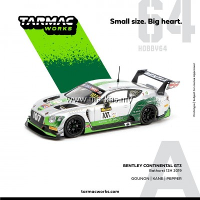 (PO) TARMAC WORKS 1/64 BENTLEY CONTINENTAL BATHURST 12H 2019