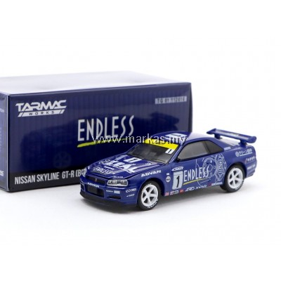 TARMAC WORKS x GREENLIGHT COLLECTIBLES 1/64 NISSAN SKYLINE GT-R (R34) ENDLESS