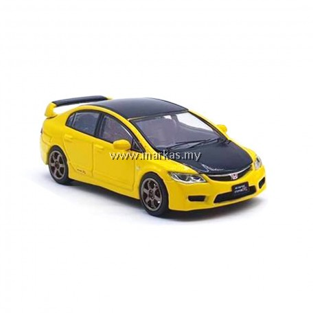 INNO MODELS INNO64 1/64 HONDA CIVIC TYPE R FD2 YELLOW W/ CARBON HOOD (SINGAPORE EXCLUSIVE) *NO STICKER REQUIRED