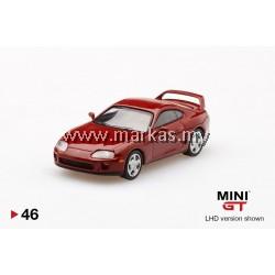 (PO) MINI GT 1/64 #46 TOYOTA SUPRA RENAISSANCE RED (RHD)