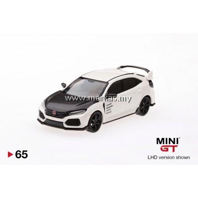 (PO) MINI GT 1/64 #65 HONDA CIVIC TYPE R (FK8) CHAMPIONSHIP WHITE W/ CARBON KIT & TE37 WHEELS (RHD)