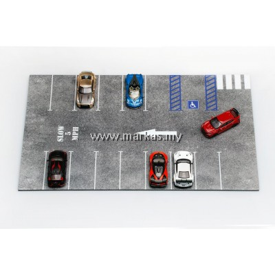 (PO) DIECAST ACCESSORIES 1/64 PARKING LOT PAD TYPE A 40 x 25 cm