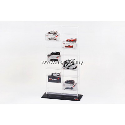 (PO) DIECAST ACCESSORIES 1/64 ACRYLIC DISPLAY CASE (20 DIECAST CARS)