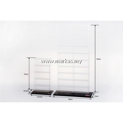 (PO) DIECAST ACCESSORIES 1/64 ACRYLIC DISPLAY CASE (5 DIECAST CARS)