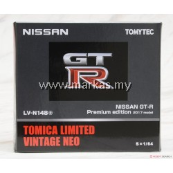 TOMICA LIMITED VINTAGE NEO LV-N148E NISSAN GTR PREMIUM EDITION GRAY