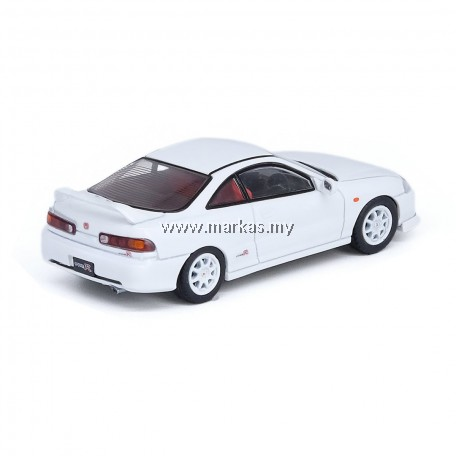 (PO) INNO MODELS INNO64 1/64 HONDA INTEGRA TYPE-R DC2 WHITE W/ EXTRA WHEELS & DECALS