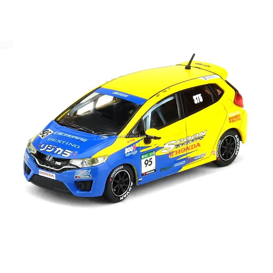 Honda Fit 3 RS #95 2015 Cuchara Super Taikyu Amarillo Azul 1:64 escala modelos Inno
