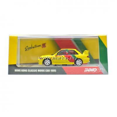 INNO MODELS INNO64 1/64 HK TOY SOUL EXCLUSIVE - MITSUBISHI LANCER EVOLUTION III HONG KONG CLASSIC MOVIE CAR