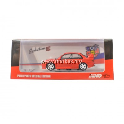 INNO MODELS INNO64 1/64 PHILIPPINE EXCLUSIVE - MITSUBISHI LANCER EVOLUTION III 1995 RED