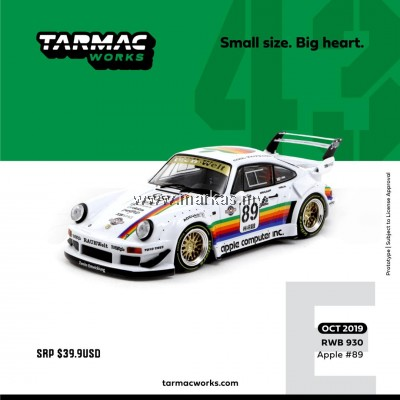 (PO) TARMAC WORKS 1/43 PORSCHE RWB 930 APPLE #89