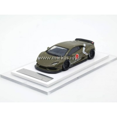 LB PERFORMANCE PREMIUM COLLECTION LIBERTY WALK 1/64 HURACAN LB 610 ARMY GREEN