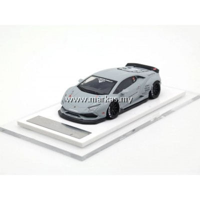LB PERFORMANCE PREMIUM COLLECTION LIBERTY WALK 1/64 HURACAN LB 610 GREY ZERO FIGHTER