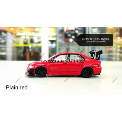 CM MODEL 1/64 MITSUBISHI LANCER EVOLUTION IX RED PLAIN