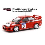 TARMAC WORKS 1/64 MITSUBISHI LANCER EVOLUTION V LUXEMBOURG RALLY 1999 MADEIRA / RODRIGUES DA SILVA HONG KONG SPECIAL EDITION