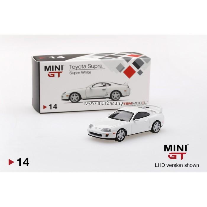 MINI GT 1/64 #14 TOYOTA SUPRA (JZA80) SUPER WHITE (RHD)