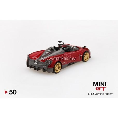 MINI GT 1/64 #50 PAGANI HUARYA ROADSTER ROSSO MONZA (RHD)