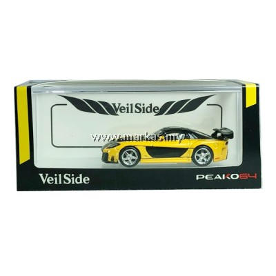 PEAKO MODEL PEAKO64 1/64 MAZDA RX7 VEILSIDE FORTUNE 7 YELLOW BLACK