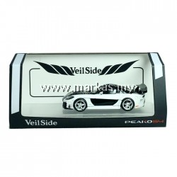 PEAKO MODEL PEAKO64 1/64 MAZDA RX7 VEILSIDE FORTUNE 7 WHITE BLACK