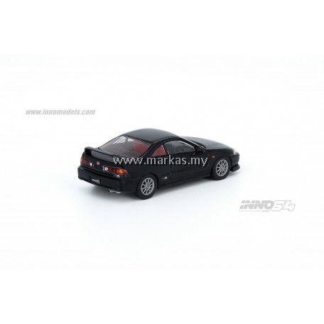 (PO) INNO MODELS INNO64 1/64 HONDA INTEGRA TYPE R DC2 1996 BLACK WITH EXTRA WHEELS & DECALS