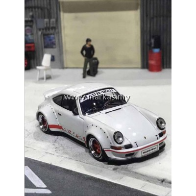MODEL COLLECT 1/60 RWB PORSCHE 930 DUCKTAIL WING PEARL WHITE