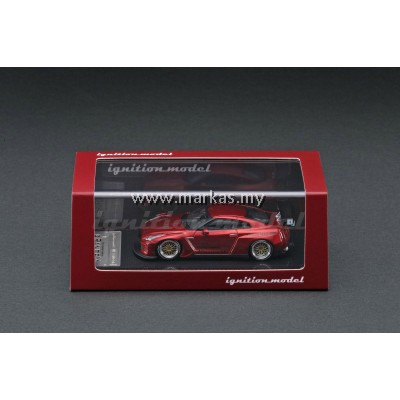 (PO) IGNITION MODEL 1/64 PANDEM R35 GT-R RED METALLIC