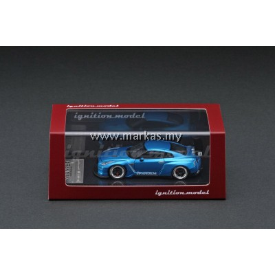 (PO) IGNITION MODEL 1/64 PANDEM R35 GT-R BLUE METALLIC