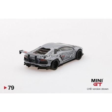 (PO) MINI GT 1/64 #79 LB WORKS LAMBORGHINI AVENTADOR FIGHTER WORKS (RHD)
