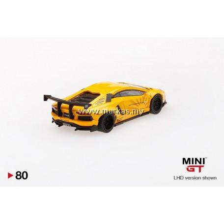 (PO) MINI GT 1/64 #79 LB WORKS LAMBORGHINI AVENTADOR VOLCANO YELLOW (RHD)