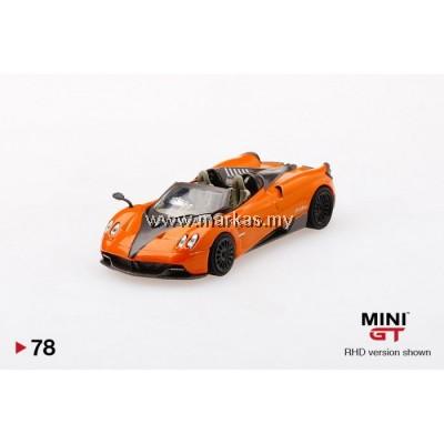 (PO) MINI GT 1/64 #78 PAGANI HUARYA ROADSTER ARANCIO SAINT TROPEZ (RHD)