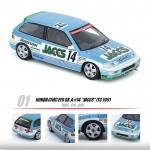 "(PO) INNO MODELS INNO64 1/64 HONDA CIVIC EF9 GR.A #14 ""JACCS"" JTC 1991"