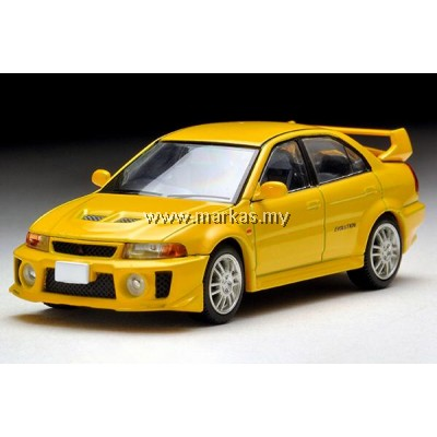 TOMICA LIMITED VINTAGE 1/64 LV-N187A MITSUBISHI GSR LANCER EVOLUTION V (YELLOW)