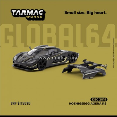 (PO) TARMAC WORKS GLOBAL64 1/64 KOENIGSEGG AGERA RS YELLOW/BLACK
