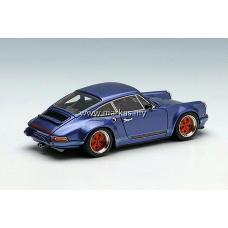 (PO) MAKE UP 1/64 TM001D PORSCHE SINGER 911 (964) ICE BLUE METALLIC