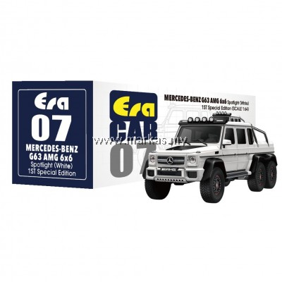 (PO) ERA CAR 1/64 #07 MERCEDES-BENZ G63 AMG 6x6 SPOTLIGHT 1ST SPECIAL EDITION (WHITE)