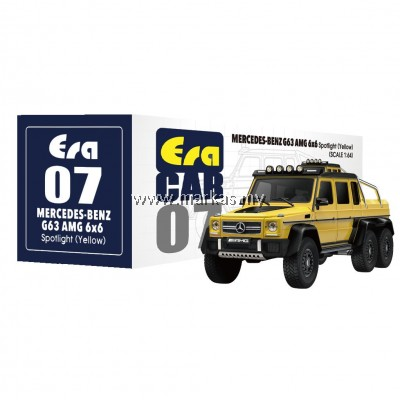 (PO) ERA CAR 1/64 #07 MERCEDES-BENZ G63 AMG 6x6 SPOTLIGHT (YELLOW)