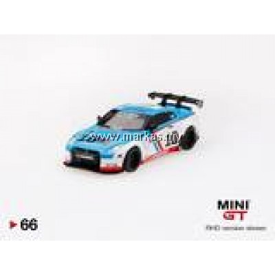 MINI GT 1/64 #66 MALAYSIA EXCLUSIVE LB★WORKS NISSAN GT-R R35 TYPE 1 + 2 REAR WING VER 1 COSMICS BLUE