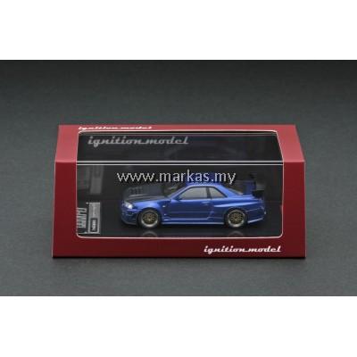 (PO) IGNITION MODEL 1/64 NISMO R34 GT-R Z TUNE BLUE METALLIC + TARMAC WORKS 1/64 SELECTION