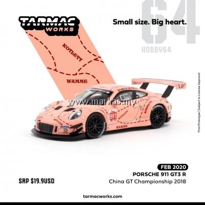 (PO) TARMAC WORKS 1/64 PORSCHE 911 GT3 R CHINA GT CHAMPIONSHIP 2018
