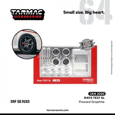 (PO) TARMAC WORKS 1/64 ACCESSORIES RAYS TE37 SL PRESSED GRAPHIC