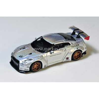 (PO) MINI GT 1/64 TAIWAN EXCLUSIVE LB WORKS NISSAN GT-R R35 TYPE 1, REAR WING VER 1, MAGIC PEARL